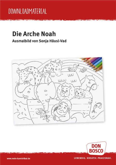 Download Arche Noah Ausmalbild Kamishibai